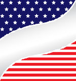 Rasgón patriótico Imagen de archivo