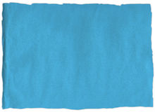 Rasgón viejo del papel azul Fotos de archivo