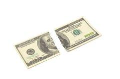 $ rasgado 100 Foto de Stock