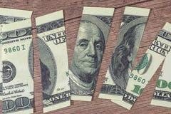 100 rasgados dólar Franklin Foto de archivo
