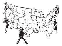 Rasgando el país separado Imagen de archivo