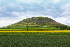 Rasgo da montanha perto de Roudnice nad Labem Paisagem checa Imagens de Stock