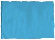Rasgo velho do papel azul Fotos de Stock