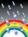 Rasgones en el arco iris Stock de ilustración