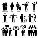 Rasgos de carácter positivos de las personalidades Clipart Imagen de archivo libre de regalías