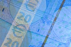 Rasgos de seguridad euro fotos de archivo libres de regalías