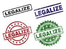 Rasguñado texturizado LEGALICE los sellos del sello stock de ilustración