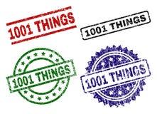Rasguñado texturizado 1001 sellos del sello de las COSAS stock de ilustración
