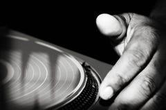Rasguño de DJ Fotografía de archivo