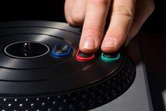 Rasguño de dos dedos en el juego video Imagenes de archivo
