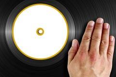 Rasguño del vinilo Foto de archivo libre de regalías