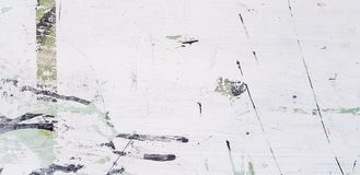 Rasguño o marca blanco, negro y verde del extracto del arte en la superficie con el espacio de la copia Foto de archivo libre de regalías