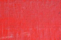 Rasguño pintado rojo de madera fotos de archivo