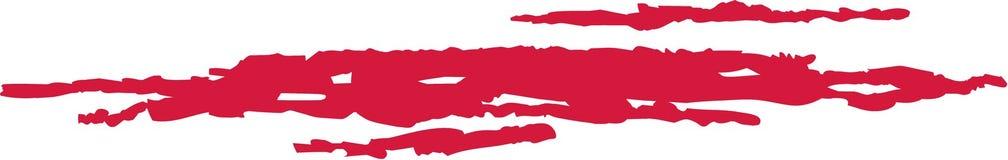 Rasguño sangriento grande ilustración del vector
