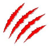 Rasguños de la garra Imagen de archivo libre de regalías