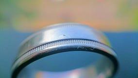 Rasguños del anillo de bodas Foto de archivo libre de regalías