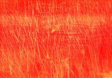 Rasguños en el rojo subterráneo Foto de archivo libre de regalías