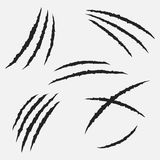 Rasguños por el sistema del vector de las garras Fotos de archivo libres de regalías