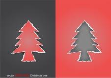Rasgue a árvore de Natal de papel ilustração stock