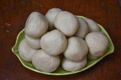 Rasgulla, Banglar Rosogolla, is een Indisch stroperig dessert populair in het Indische subcontinent en de gebieden met Zuiden Azi royalty-vrije stock fotografie