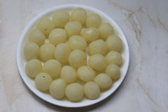 Rasgulla Tasty Indian Sweets Made With Milk And Sweet Syrup Stock Images