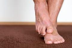 Rasguño del pie Fotografía de archivo libre de regalías