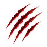 Rasguños de las garras. Vector. Imagen de archivo libre de regalías