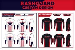Rash Guard Custom Design. American style,tactical wear Stock Photos