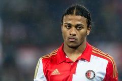 Rashaan Fernandes spelare av Feyenoord Royaltyfri Bild