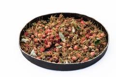 Rashberry odwilżania herbaciana niecka Fotografia Stock