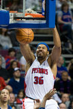 Rasheed Wallace Dunks royaltyfri fotografi