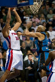 Rasheed Wallace Grabs A Rebound Stock Photography