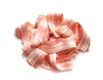 Rashers of bacon on background Royalty Free Stock Photos