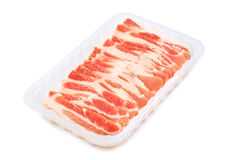Rashers crus do bacon Foto de Stock