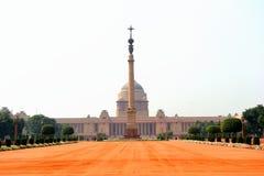 Rashtrapati Bhavan,住所,德里,印度 免版税库存图片