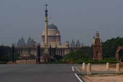 Rashtrapati Bhavan, House of the President of India Stock Photo