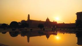 Rashtrapati Bhavan Indien Lizenzfreies Stockbild