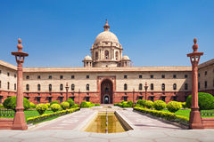 Rashtrapati Bhavan Royalty Free Stock Images