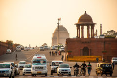 Rashtrapati Bhavan is the official home of the President of India. The capital of India, Delhi stock photos