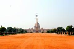 Rashtrapati Bhavan, uppehåll, Delhi, Indien Arkivbilder