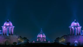 Rashtrapati lumineux Bhavan à New Delhi images stock