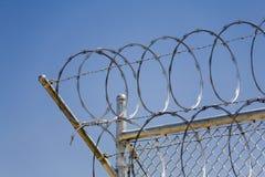 Rasiermesser-Draht-Sicherheit Fence_01 Stockfoto