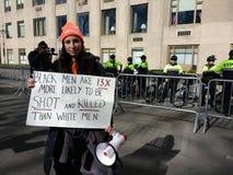 Rasism och vapenvåld, mars för våra liv, vapenkontroll, NYC, NY, USA arkivbild