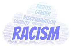 Rasizm - typ dyskryminacja - słowo chmura ilustracja wektor