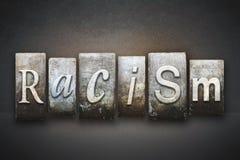 Rasizmu tematu Letterpress Zdjęcia Royalty Free