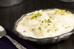 Rasmalai, an Indian Dessert with Paneer Cheese and Sweet Milk Royalty Free Stock Photography
