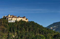 Rasnov中世纪堡垒,特兰西瓦尼亚,罗马尼亚 库存图片