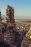 Rasnov城堡废墟 免版税库存照片