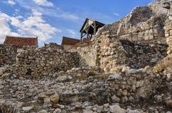 Rasnov城堡废墟  免版税图库摄影