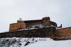 Rasnov城堡的看法 免版税库存照片